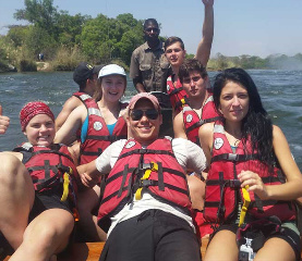 temba students water rafting